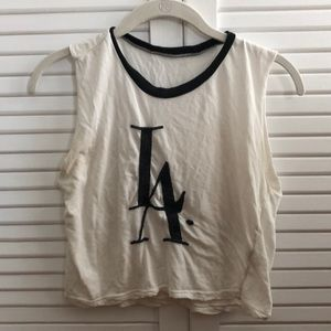 Brandy Melville muscle t shirt with LA graphic